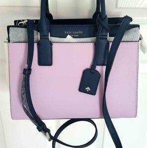 NWT Kate Spade Pink and Navy Handbag Satchel Purse